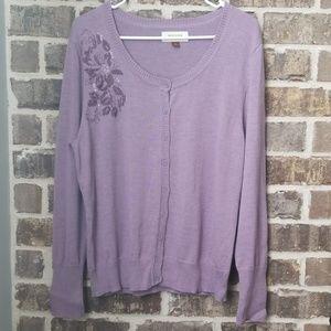 Sonoma Purple Cardigan